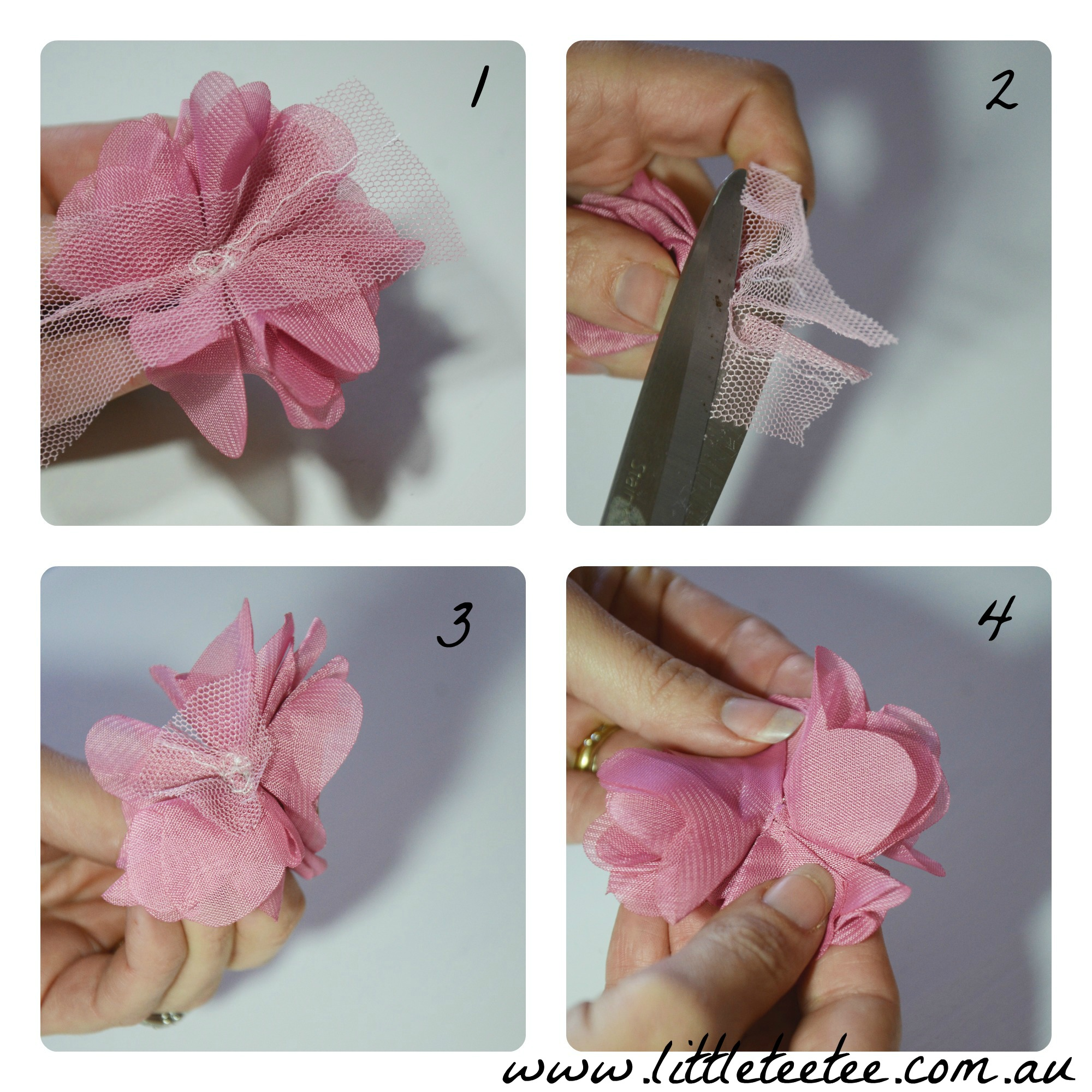 Diy How To Make Fabric Flowers