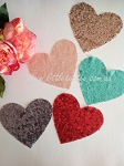 Sequin heart patches large. Set of 2