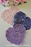 Heart Doilies - Light Pink pair.