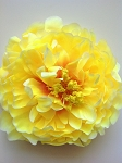 Artificial Flower - Yellow Peony. 15cm. x1