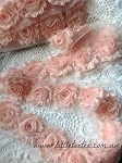 Peach Shabby Chic Flowers x 10