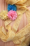 Sweet stretch lace - Yellow. 2.5cm