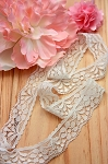 Sweet stretch lace - ivory. 2.5cm