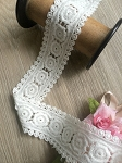 Non-stretch White cotton lace - 5cm wide. 1mtr