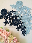 Lace applique. Navy. 26cm