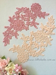 Lace applique. Pink & Peach. 26cm