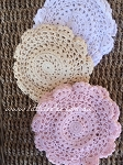 Large round doilies x 2. White or beige