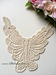 'Butterfly' embroidered trim x 1. natural or white