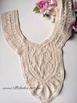 'Harper' embroidered neck trim x 1. natural & white