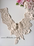 'Layla' embroidered neck trim x 1. natural