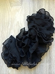 Chiffon flounce applique - 'black