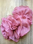 Chiffon flounce applique - dusty pink