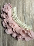 Ruffles and pearls applique. x1 Fawn